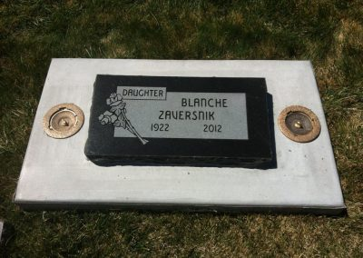 Imperial black single flat headstone