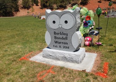 owl shaped headstone