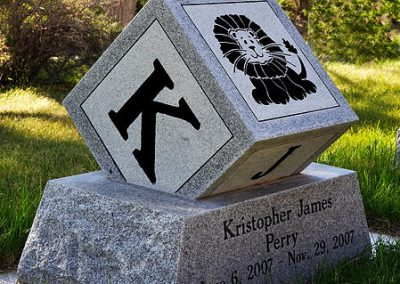 block shaped kids headstone