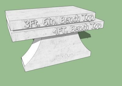 Pedestal Bench Sizes